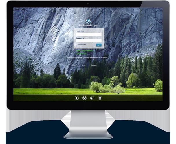 Download WordPress Custom Login Theme Page | IDNulled™
