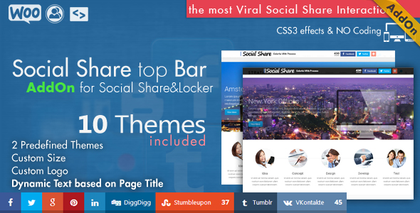 Social Share & Locker Pro Theme Pack (W&B) - 4