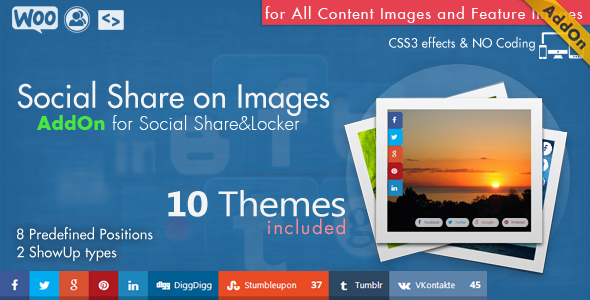 Social Share & Locker Pro Theme Pack (W&B) 6